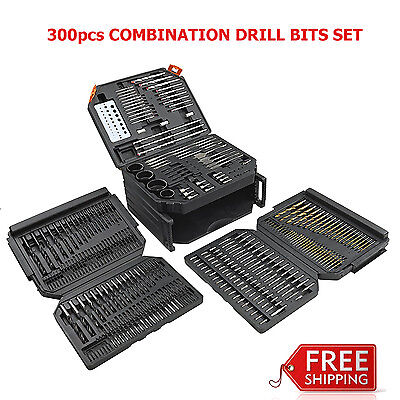 300Pcs Combination Drill Bit Set Drilling Power Tools