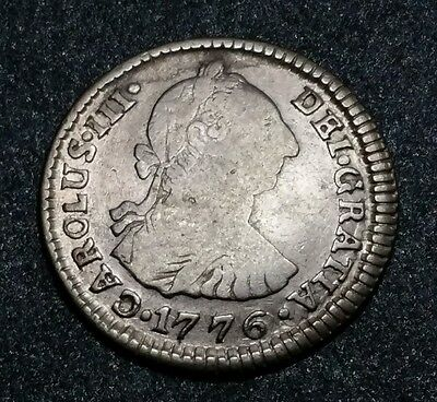 1776 J.R. Bolivia ☆1 Real Milled Colonial Charles III Bust ☆Potosi Silver Coin