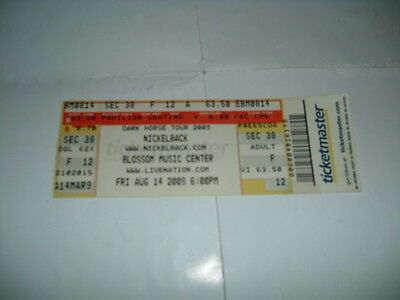 Nickelback Ticket Stub August 14 2009 Blossom Music Center In Cleveland Ohio