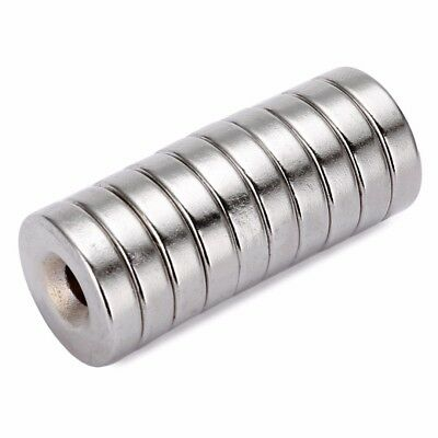 10pcs N52 20x5mm Strong Round Countersunk Ring Magnet 5mm Hole Rare Earth Neodym