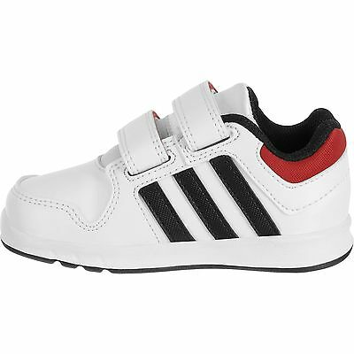 NEW!!!Baby ADIDAS LK Trainers shoes White/Black/Red   5.5C /22