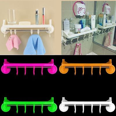 Bathroom Shower Corner Suction Cup Storage Holder Rack Organizer
