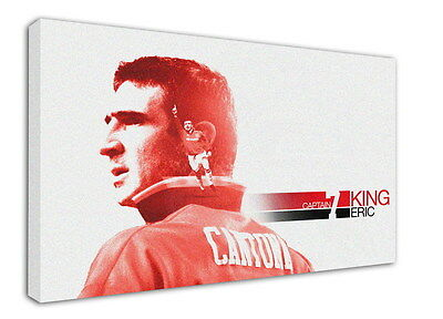 WK-F359 (3) Eric Cantona Canvas Stretched Wood Framed 36x24inch Poster