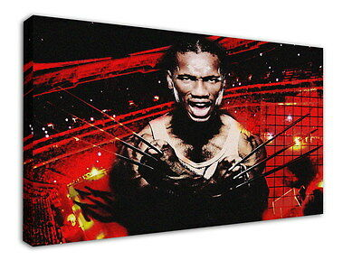 WK-F375 (16) Drogba Canvas Stretched Wood Framed 36x24inch Poster