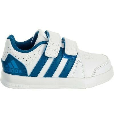 NEW!!!Baby ADIDAS LK Trainers shoes White/Blue  7C/24