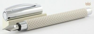 Faber Castell Ambition Opart White Sand With Chrome Plated Finish Fountain Pen!!