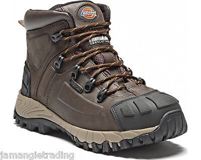 Dickies Medway S3 Safety Steel Toe Cap Work Boots Brown FD23310 Free P&P