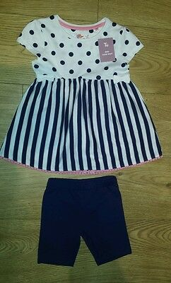 Girls summer outfit/ set size 2-3 yrs NEW FREE P&P