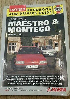 New Haynes Handbook And Drivers Guide Maestro & Montego Inc Mg 1983 To 1992 1819