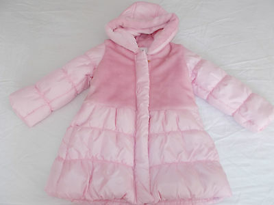 BNWT Girls Age 18- 23 months Pink   Padded Jacket Coat Zip Up Hooded