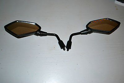 Pair Of E Marked Sports Mirrors To Fit Kawasaki Versys Kle  650 2008 On 10Mm