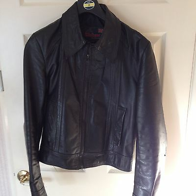 Original Windsor 1970s vintage Black leather jacket bomber biker rocker