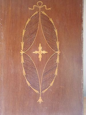 Wooden Inlaid Veneered  Edwardian Panel  For Use For Restoration