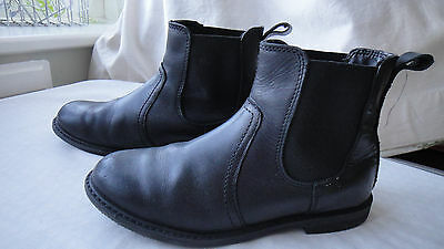Next black leather boots with elasticated sides for a boy or a girl size 1