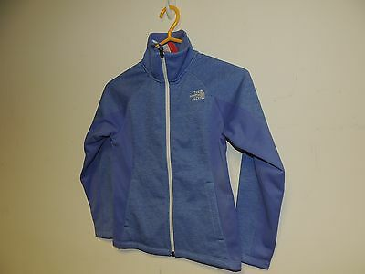 North Face girls ARCATA full zip jacket in 10-12 grapemist blue heather NWT