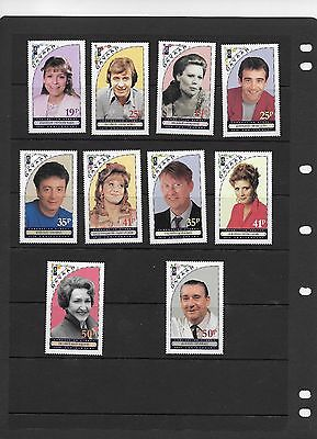 CORONATION STREET 35th ANNIVERSARY ISSUE DAVAAR 10 STAMPS
