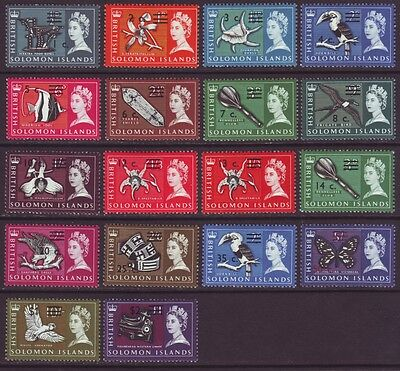 Solomon Islands 1966 SC 149-166 MH Set