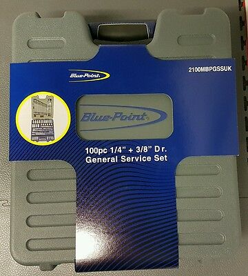 Blue Point 100 piece General Service Socket Set and Spanners. As sold by Snap On
