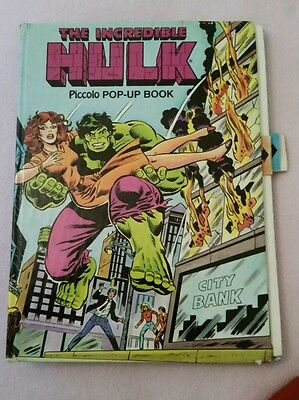 Vintage The Incredible Hulk Pop-up Book ! Marvel Comic Avengers Graphic Novel