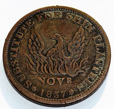 1837 US HARD TIMES TOKEN - Substitute For Shin Plaster - NOT ONE CENT - PHOENIX