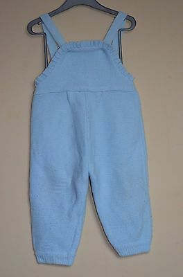 winter warm acrylic dungarees onesie soft playsuit baby blue 6-12 months