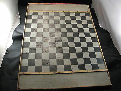 Antique/Vintage Wood Game Board Primitive Folk Art