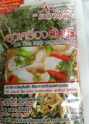 Tom Yum Soup Vegetables Set Thai Herbs Food Cooking Fresh Kitchen Instant Tasty