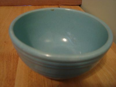 """McCoy Turquoise Small 6 """" Stacking Bowl Vintage"""