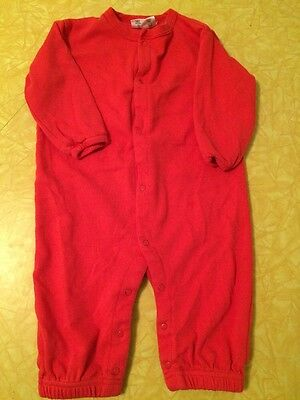 Sckoon NY Baby 100% Organic Cotton RED ORANGE ANGEL WINGS Romper 6-12 Months