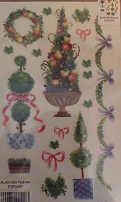 E-Z Rub On Transfers / Rubbings / Decals - Topiary / Trees