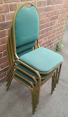 Set Of 4 Vintage / Retro Steel Stacking Chairs