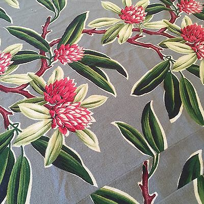 Vintage Barkcloth Fabric Drapery 4 Panels Cutters