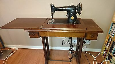 Vintage Singer sewing machine 201K with accessories and manual