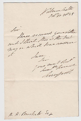 LORD LIVERPOOL as PRIME MINISTER, autograph letter signed 1825