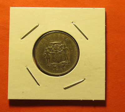 Jamaica Tent Cent Coin 1969 Circulated