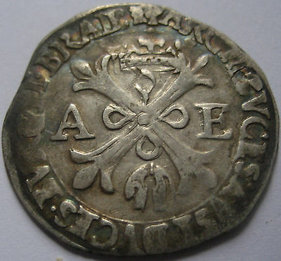 BELGIUM DUCHY of BRABANT ALBERT and ISABELLA 1598-1621 SILVER REAL no date