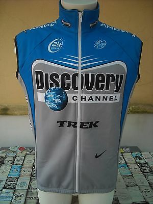 Giacca Ciclismo Smanicata Discovery Channel Nike Xl Cycling Sleeveless Jacket