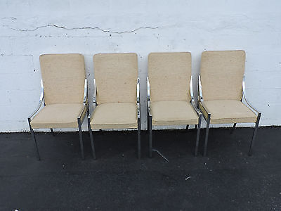 Set of 4 Mid Century Modern Chrome Dining Chairs 6988
