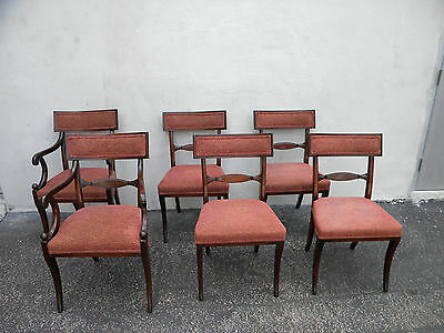Set of 6 Mahogany Dining Chairs 5742A