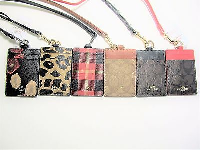 Coach Signature Pvc Canvas Lanyard Id Holder New With Tags