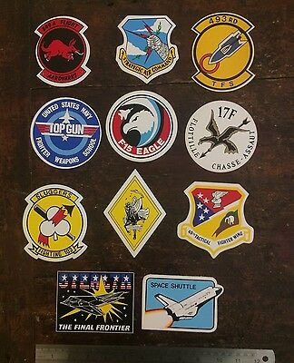 Job Lot Collection Of 11 Vintage USAF Stickers,