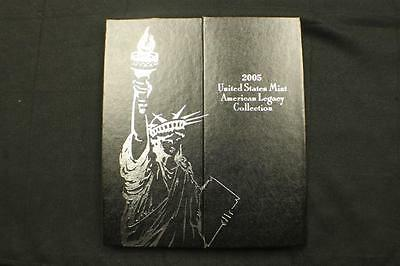 2005 American Legacy Proof Coin Set US Mint With Marine Corp Silver Dollar K1468