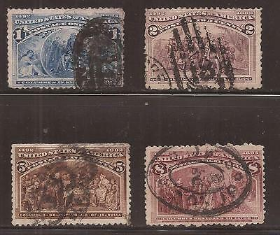 US  1893  Columbian Exposition Issue - Lot