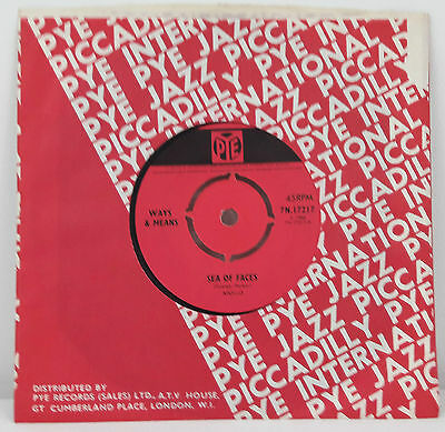 Ways And Means Sea Of Faces / Make The Radio a Little Louder  UK 1966 Mint Mod