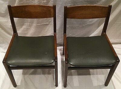 Mid Century Modern 1960's/70's Pair Of Teak Chairs Vintage Retro