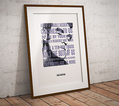 Morrissey There's a Light Lyrics Art Print/Poster In Two Sizes The Smiths 2016©
