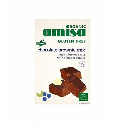 AMISA CHOCOLATE BROWNIE MIX - GLUTEN FREE 40 x 6 Pack Deal, Organic
