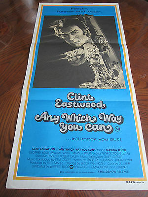 Any Which Way You Can (Clint Eastwood) : Australian Daybill Poster : 1980