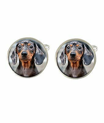 Daschund Dog Mens Cufflinks Birthday Fathers Gift C77
