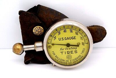 Vintage US Tire Gauge for Testing Balloon or Standard Tires Dated 1911 - 1927